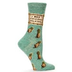 NWT Blue Q I was Talking New Gift Socks